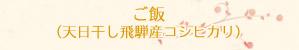 ご飯(天日干し飛騨産コシヒカリ)